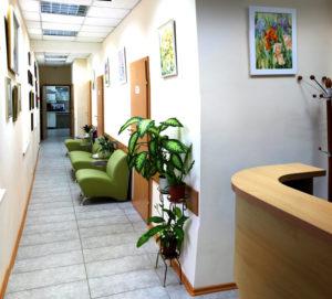Холл - клиника Татьяны Марченко